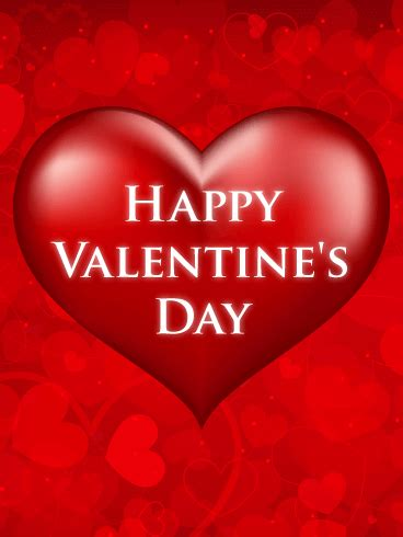 Red Heart Happy Valentine's Day Card | Birthday & Greeting