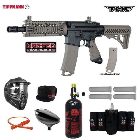 Tippmann TMC MAGFED Elite HPA Paintball Gun Package From