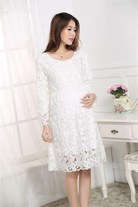 Summer Dresses White Lace Maternity Clothes For Pregnant