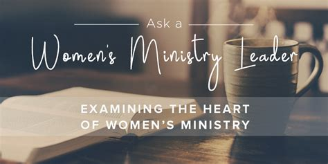 Examining the Heart of Women's Ministry   Leader