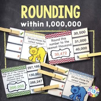 Rounding Numbers 4th Grade Task Cards {4