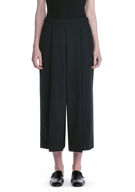 Alexander Wang CROPPED PANTS WITH INVERTED PLEAT FRONT