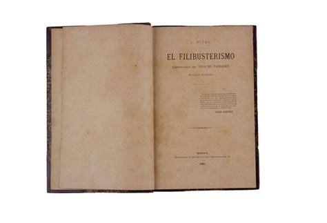 First edition 'El Filibusterismo' to go up for auction for