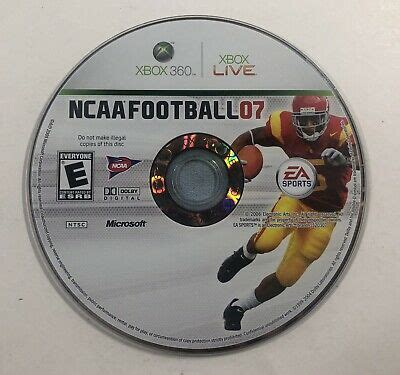 NCAA Football 07 - Microsoft Xbox 360 - DISC ONLY - Tested