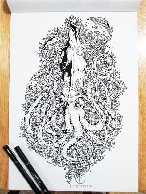 Beautifully Detailed Pen Doodles By Artist Kerby Rosanes