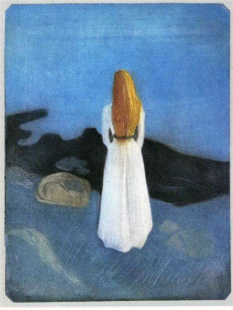 Young woman on the shore, 1896 - Edvard Munch - WikiArt