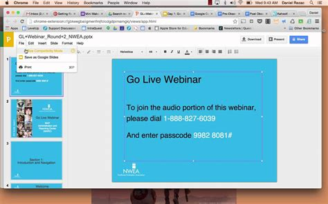 Converting a PowerPoint to a Google Slide Presentation