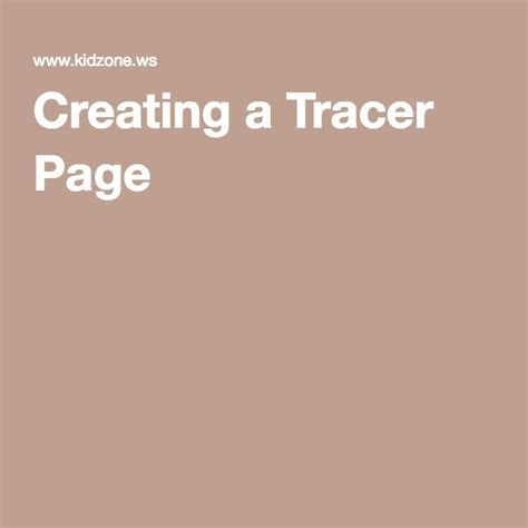 Custom Tracer Pages   Tracer, Custom, Custom letters