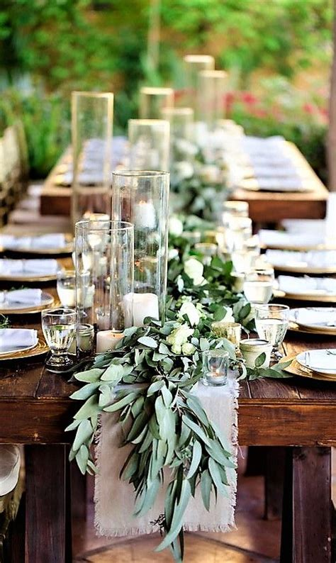 Outdoor wedding centerpieces image by Gina Claire on