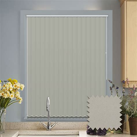 Made to measure vertical blinds in Guardian flint plain