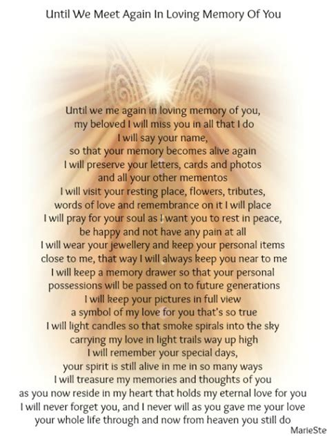 Until We Meet Again In Loving Memory Of You   The Grief