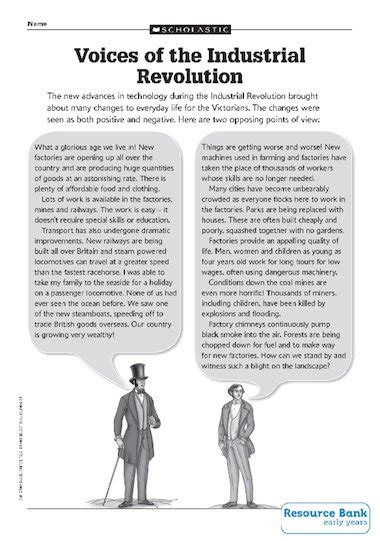 Voices of the Industrial Revolution – Primary KS2 teaching