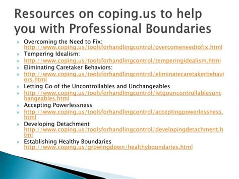 PPT - Maintaining Healthy Professional Boundaries