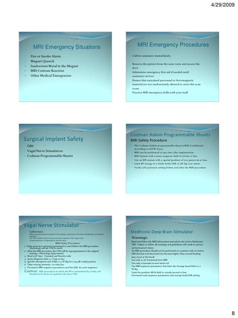 Mri safety practice and principles