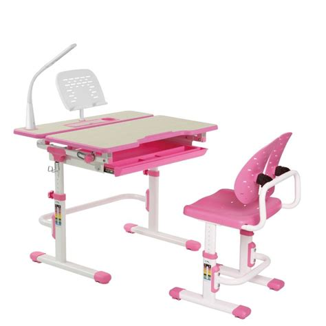 Height Adjustable Children's Study Table and Winged Back