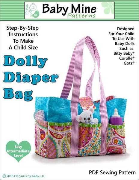 Baby Mine Dolly Diaper Bag Doll Accessory Pattern 15 inch