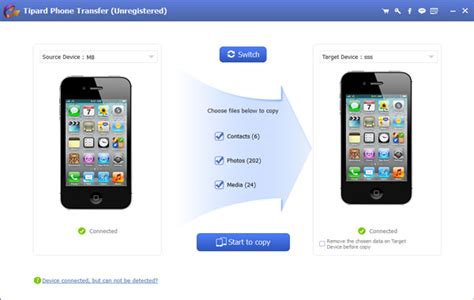 Tipard Phone Transfer - Move Content between Android and
