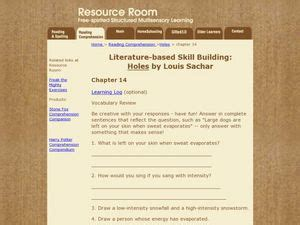 Literature-based Skill Building: Holes by Louis Sachar