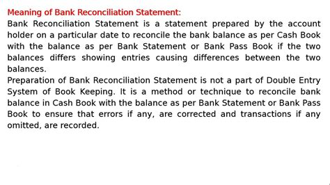 Bank Reconciliation Definition | Examples and Forms