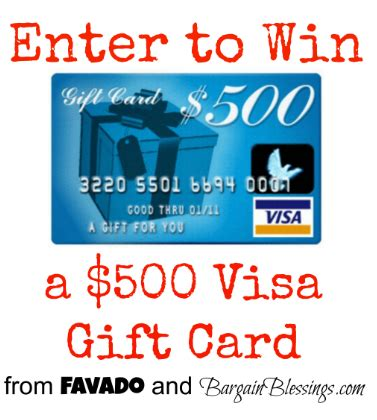 Giveaway: Win a $500 Visa Gift Card from Bargain Blessings