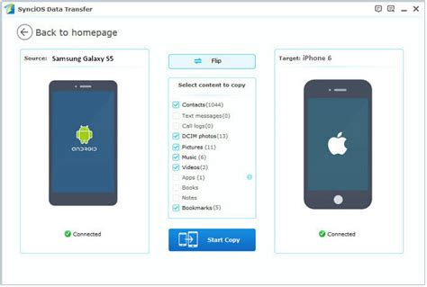 How to Transfer Data from Samsung Galaxy Phones to iPhone