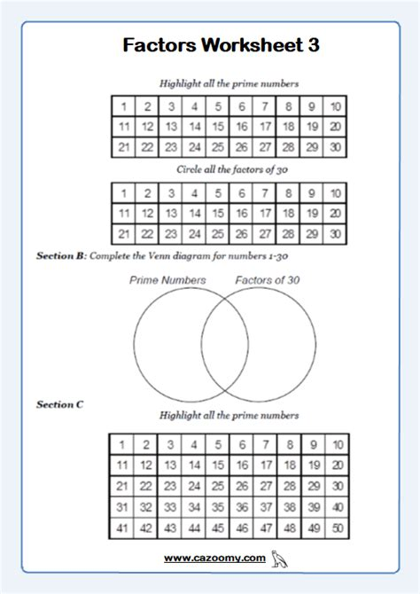 Prime Numbers Worksheets - Practice Questions and Answers