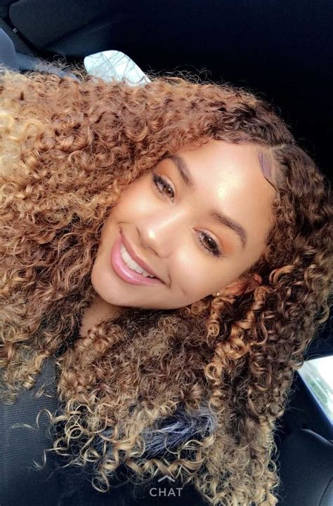 Promis juré | Hair styles, Dyed curly hair, Dyed natural hair