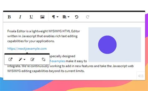 React component for Froala WYSIWYG HTML Rich Text Editor
