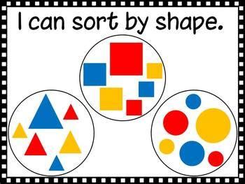 I Can Sort Math Posters by D Conway   Teachers Pay Teachers