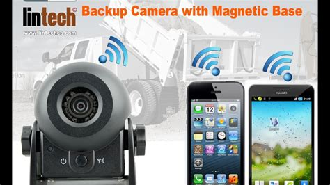 Portable WiFi Car Trucks Backup Camera with Magnetic Base